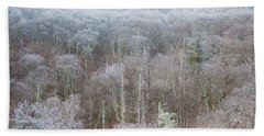 Hoarfrost In The Tree Tops Beach Towel