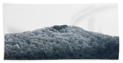 Hoarfrost On The Mountain Beach Towel