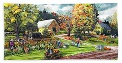 Hodges Farm In Fairlee Vermont Beach Sheet