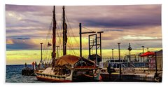 Hokulea Docked Beach Towel