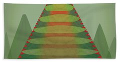 Beach Towel featuring the digital art Holotree by Kevin McLaughlin