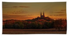 Holy Hill Sunrise Panorama Beach Towel