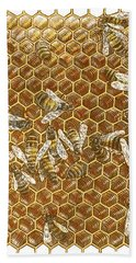 Honey Bees Beach Towel