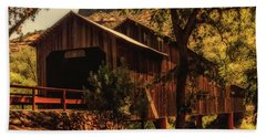 Honey Run Covered Bridge Beach Towel