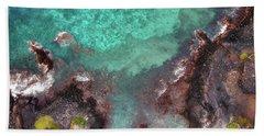 Honokohau Harbor Beach Aerial Beach Towel