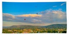 Hot Air Ballon Cluster Beach Towel
