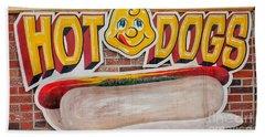 Hot Dogs Beach Towel