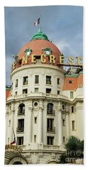 Hotel Negresco Nice France Beach Towel