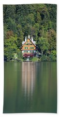 Beach Towel featuring the photograph House On The Lake by Davor Zerjav