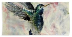 Hummingbird Flight Beach Towel