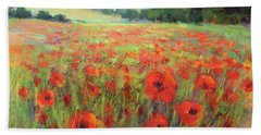 I Dream Of Poppies Beach Sheet