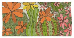 I Perhaps Owe Having Become A Painter To Flowers Beach Towel