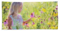 I Would Pick More Daisies ... Beach Towel