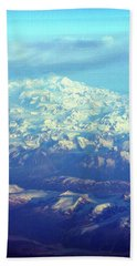 Ice Covered Mountain Top Beach Towel