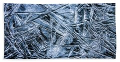 Beach Towel featuring the photograph Ice Crystals by Dawn Richards