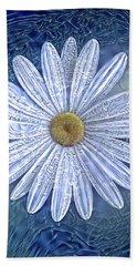 Ice Daisy Flower Beach Towel
