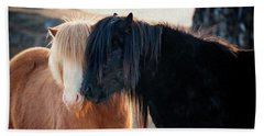 Icelandic Horse Love Beach Sheet