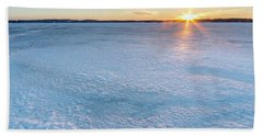 Icy Sunset Square Beach Towel