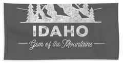 Idaho T Shirt Vintage Hiking Retro Tee Design Beach Towel