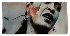 I'll Be Seeing You - Billie Holiday  Beach Towel