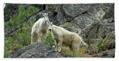Idaho Mountain Goats Beach Towel