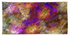Impressions Of Cactus Flowers Beach Towel