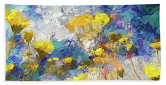 Impressions Of Desert Sunflowers Beach Towel
