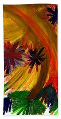 Beach Towel featuring the pastel Improvisation #74 by Bee-Bee Deigner