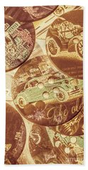 In Fashion Of Classic Cars Beach Towel