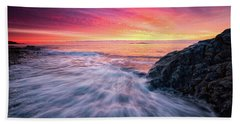 Beach Towel featuring the photograph In The Beginning There Was Light by Jeff Sinon