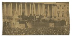 Inauguration Of Abraham Lincoln, March 4, 1861 Beach Sheet