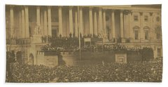 Inauguration Of Abraham Lincoln, March 4, 1861 Beach Towel