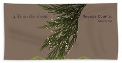 Incense Cedar - Brpwn Text Beach Towel