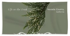 Incense Cedar - White Text Beach Towel