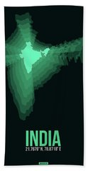India Radiant Map 3 Beach Towel