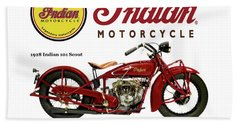Indian 101 Scout - 1928  Beach Towel