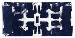 Indigo Abstract 2- Art By Linda Woods Beach Towel