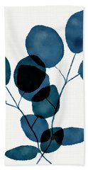 Indigo Eucalyptus 3- Art By Linda Woods Beach Towel