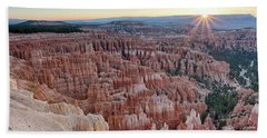 Inspiration Point Sunrise Bryce Canyon National Park Summer Solstice Beach Towel