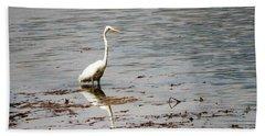 Intermediate Egret At Lake Pat 3 Beach Towel