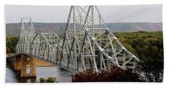 Iowa - Mississippi River Bridge Beach Towel
