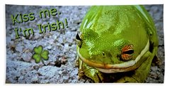 Irish Frog Beach Towel