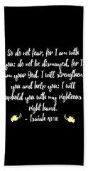 Isaiah 4110 Bible Beach Sheet