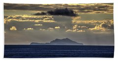 Beach Towel featuring the photograph Island Cloud by John Rodrigues