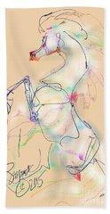 Ivory Horse Rising Beach Sheet
