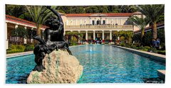 J Paul Getty Villa Pacific Palisades California Beach Towel