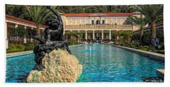 J Paul Getty Villa Pool Roman Culture California  Beach Towel
