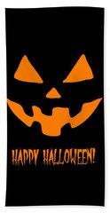 Jackolantern Happy Halloween Pumpkin Beach Towel