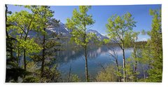 Beach Towel featuring the photograph Jackson Lake by Sue Collura