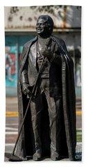 James Brown Statue - Augusta Ga 2 Beach Sheet